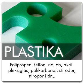 Polipropen, teflon, najlon, akril, pleksiglas, polikarbonat, stirodur, stiropor i dr...
